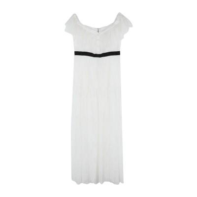 NO SECRETS ロングワンピース&ドレス ホワイト 44 ナイロン 100% ロングワンピース&ドレス