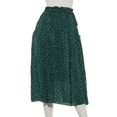 POU DOU DOU (プードゥドゥ) レディース タックギャザースカート グリーン M