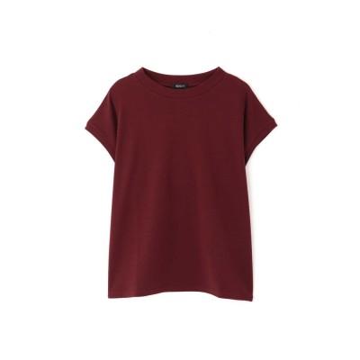 ◆モックネックTシャツ ワイン