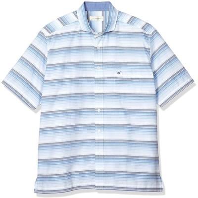 ゴールデンベア カジュアルシャツ 半袖ホリゾンタルカラーシャツ メンズ サックス 日本 4L (日本サイズ4L相当)