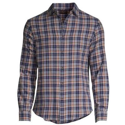 ブラック・ブラウン1826 メンズ シャツ トップス Eli Plaid Flannel Shirt Soft Caramel