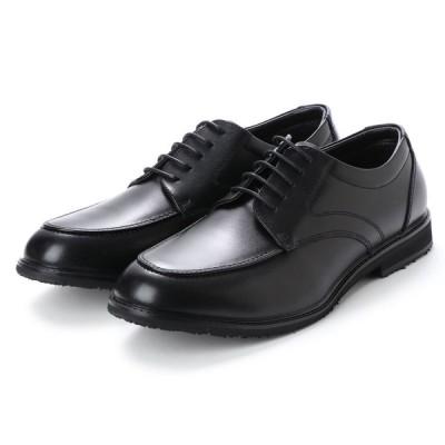 HYBRID WALKER ハイブリッドウォーカ HW1101  衝撃吸収 防水 幅広5E 本革 メンズビジネスシューズ 紐Uチップ 紳士靴 ブラック