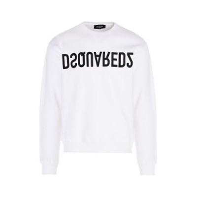 DSQUARED2/ディースクエアード Bianco Logo Reverse DSQ2 sweatshirt メンズ 春夏2021 S74GU506S25042100 ju