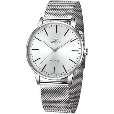 腕時計 クラシック メンズ ビジネス スチールウォッチ 防水 日本製の石英コアを アナログクオーツウオッチ ミニマリスト