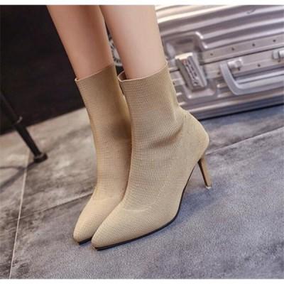 美脚ハイヒールのお洒落な秋冬ブーツ シンプルデザインで足が細く見えるレディースファション カテゴリトップ 靴 レディースファション ブーツ 靴
