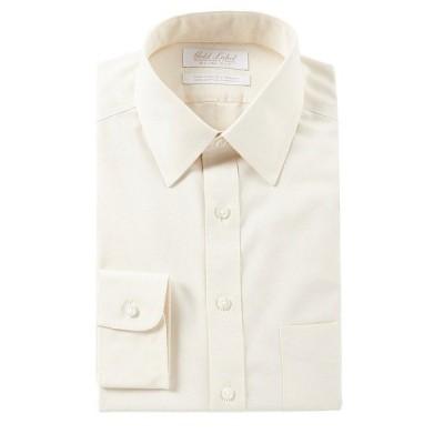 ランドツリーアンドヨーク メンズ シャツ トップス Gold Label Roundtree & Yorke Non-Iron Slim Fit Point Collar Solid Dress Shirt Ivory