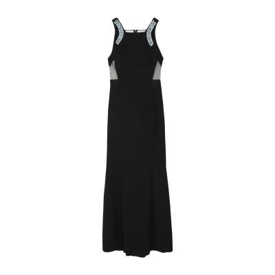 ピンコ PINKO ロングワンピース&ドレス ブラック 44 ポリエステル 100% / ガラス / 金属 ロングワンピース&ドレス