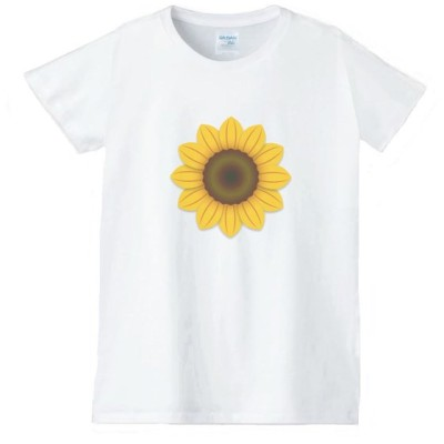 花 フラワー Tシャツ 白 レディース 女性用 jfw23