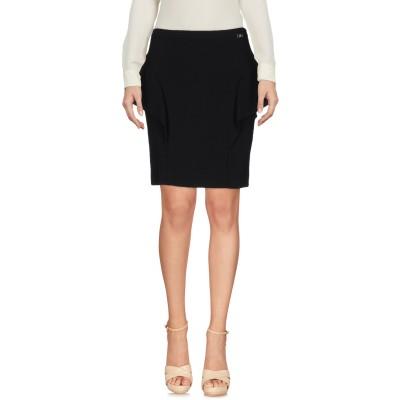 リュー ジョー LIU •JO ひざ丈スカート ブラック 40 ポリエステル 65% / レーヨン 33% / ポリウレタン 2% ひざ丈スカート