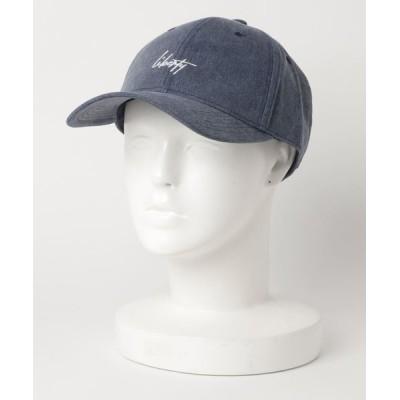 MEN'S BIGI / 刺繍 ピグメントツイルキャップ MEN 帽子 > キャップ