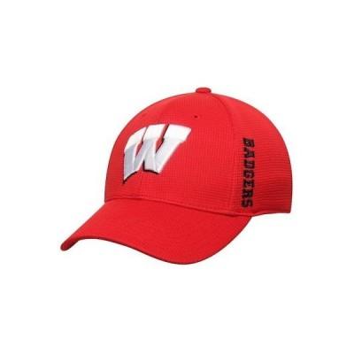 大学 NCAA トップオブザワールド Top of the World Wisconsin Badgers Red Booster Plus Memory 1Fit Logo Flex Hat