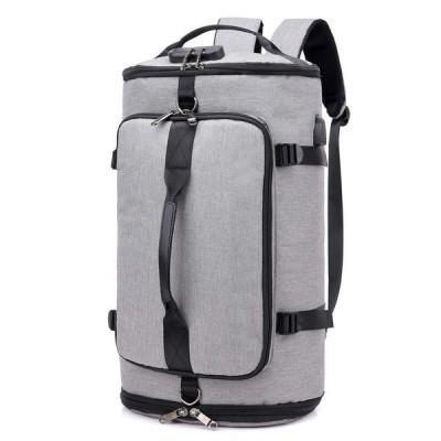 TRAGHT スポーツバッグ ボストンバック ジムバック リュック 4way リュック型可能 大容量 USB充電ポート 盗難防止 軽量 旅行出張も適用 多機能 男女兼用 錠 シュ