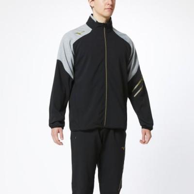 メンズ ムーブクロスジャケット[ユニセックス] 09 ブラック×グレー杢 L トレーニングウエア ミズノトレーニング トレーニングクロス 32MC0130