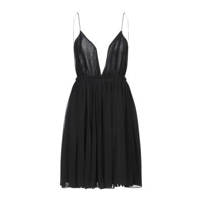 SAINT LAURENT ミニワンピース&ドレス ブラック S レーヨン 100% ミニワンピース&ドレス