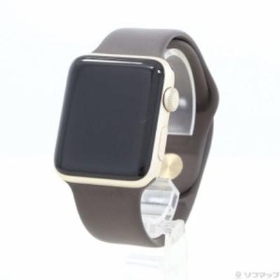 (中古)Apple Apple Watch Series 2 42mm ゴールドアルミニウムケース ココアスポーツバンド(252-ud)