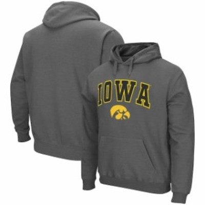 Colosseum コロセウム スポーツ用品  Colosseum Iowa Hawkeyes Charcoal Arch & Logo Pullover Hoodie