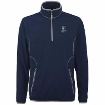 Antigua アンティグア スポーツ用品  Antigua Memphis Grizzlies Navy Ice Quarter Zip Lightweight Pullover Jacket