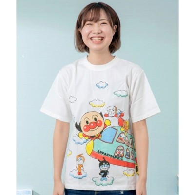 tシャツ Tシャツ つながる飛行機柄Tシャツ大人