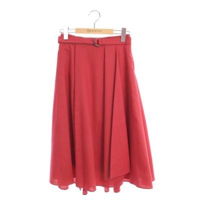 トッカ スカート ベルト付き タック 0