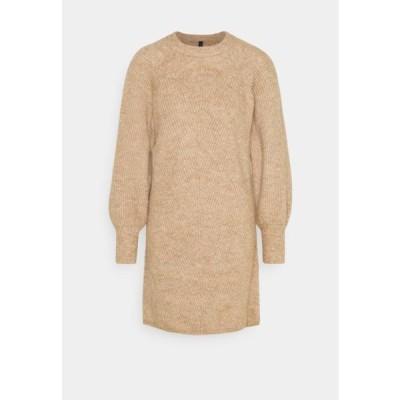 レディース ドレス YASALLU O NECK DRESS - Jumper dress - tawny brown