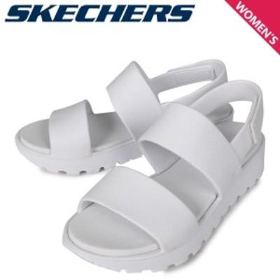 スケッチャーズ SKECHERS サンダル スポーツサンダル レディース FOOTSTEPS-BREEZY FEELS ホワイト 白 111054