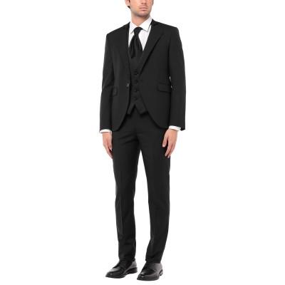 CARLO PIGNATELLI スーツ ブラック 48 ウール 84% / モヘヤ 16% スーツ