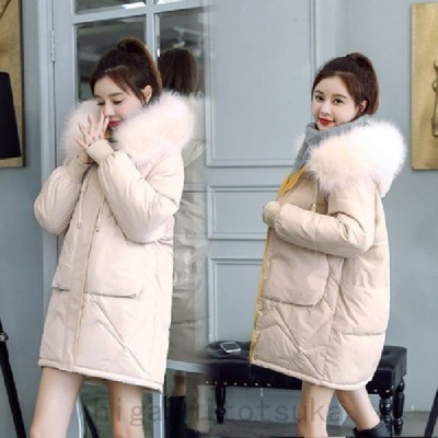 中綿ダウンコートレディース40代ロング丈軽い冬服厚手アウター中綿コート中綿ジャケットダウン風コートフード付き暖かい大きいサイズスリム防寒