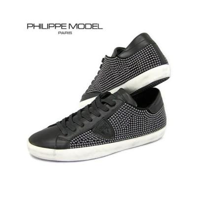 訳あり/フィリップモデル/PHILIPPE MODEL メンズ スニーカー CLLU SS01 ブラック/サイズ 41/200314