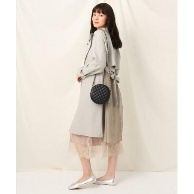 Couture Brooch/クチュールブローチ オーガンジーバックフレアコート ライトグレー(011) 42(LL)