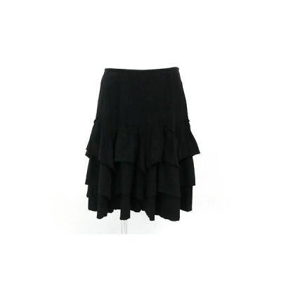 オゾック(OZOC)黒フリルスカート