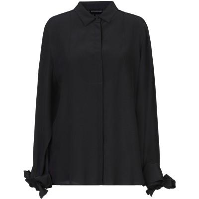 エンポリオ アルマーニ EMPORIO ARMANI シャツ ブラック 44 シルク(マルベリーシルク) 100% シャツ