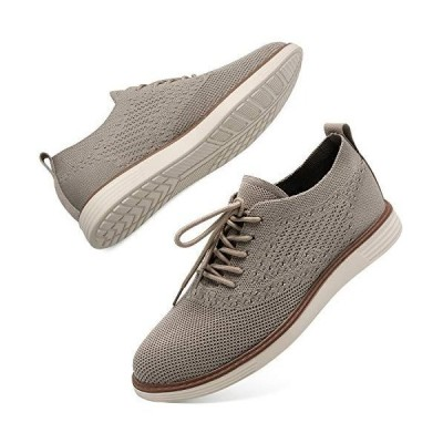 L-RUN Mens Mesh Shoes Athletic Walking Sneaker Casual Knit Shoes Khaki 10 M US【並行輸入品】