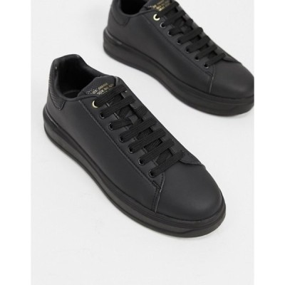 リバーアイランド メンズ スニーカー シューズ River Island wedge sneakers in black