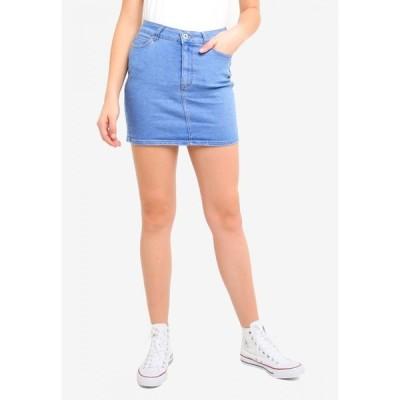 ファクトリエ Factorie レディース ミニスカート スカート Malibu Stretch Skirt Brilliant Blue