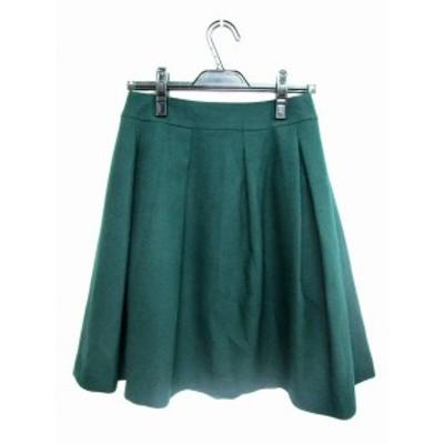 【中古】23区 オンワード樫山 スカート プリーツ ロング ミモレ 36 緑 グリーン レディース
