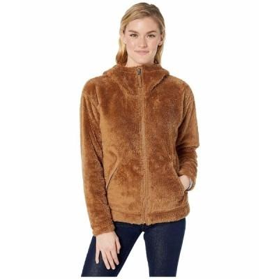 ノースフェイス コート アウター レディース Furry Fleece Hoodie Cedar Brown