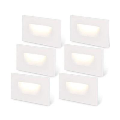 [新品]LEONLITE 120V Step Lights White Dimmable Indoor LED Stair Light, 150lm CRI 90, 3.5W 3000K Warm White, ETL Listed Outdoor Stairca