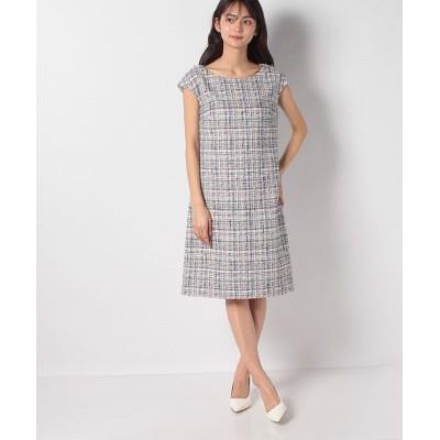 【ミス ジェイ】 ミックスツイードドレス レディース ネイビー 40 MISS J