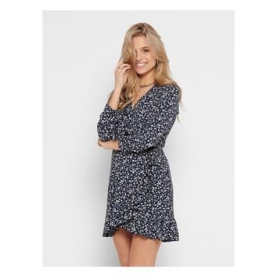 レディース ファッション ONLCARLY WRAP SHORT DRESS - Day dress - night sky