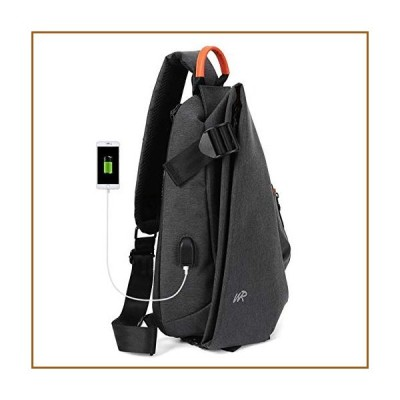 スリングバッグ、クロスボディショルダーバックパック、チェストデイパックバッグ、旅行、ハイキング、キャ