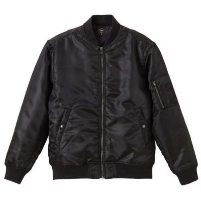 タイプ MA-1 ジャケット 中綿入 メンズ XL サイズ ブラック 無地 ユナイテッドアスレ CAB