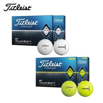 TITLEIST タイトリスト TOUR SOFT 3球入 ツアーソフト ゴルフボール 1スリーブ ホワイト イエロー