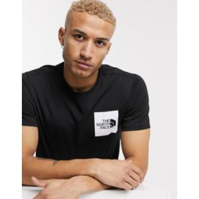 ノースフェイス メンズ シャツ トップス The North Face Fine t-shirt in black TNF black