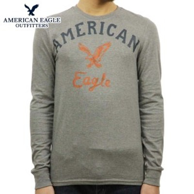 アメリカンイーグル ロンT メンズ 正規品 AMERICAN EAGLE 長袖Tシャツ GRAPHIC T-SHIRT 0518-3899 GREY