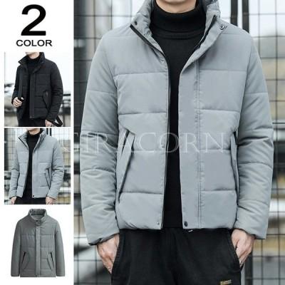 ダウンジャケット メンズ 中綿ジャケット おしゃれ キルティング ジャケット ブルゾン ハイネック 大きいサイズ 秋冬