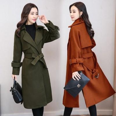 お袖バックル 冬 トレンチコートレディース 韓国 ファッション 通勤 あったかアイテム コート トレンチ 秋冬 アウター 防寒