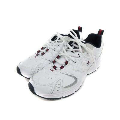 【中古】未使用品 トミー TOMMY JEANS EM00373 ヘリテージ ロゴ スニーカー 27.5cm ホワイト 210108EE 靴 メンズ 【ベクトル 古着】