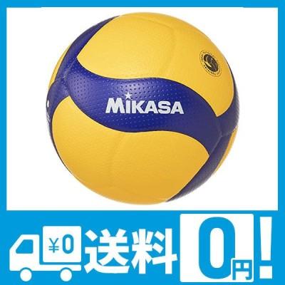 ミカサ(MIKASA) バレーボール 4号 日本バレーボール協会検定球 中学生・婦人用 イエロー/ブルー V400W 推奨内圧0.3(kgf/?)