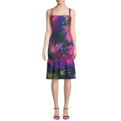 ブラックハロ レディース ワンピース トップス Nala Watercolor-Print Dress w/ Ruffle Hem