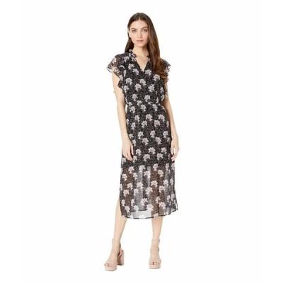 ワンステイト ワンピース トップス レディース Bloomsbury Floral Flounce Sleeve Midi Dress Rich Black Multi
